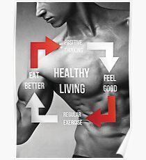 Healthy Living - Fitness Inspirational Infographic Poster