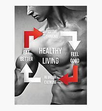 Healthy Living - Fitness Inspirational Infographic Photographic Print