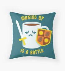 Morning Battle Throw Pillow