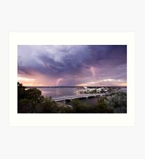 South Perth lightning Art Print