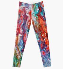 Magie cosmique 1 - Abstrait Leggings