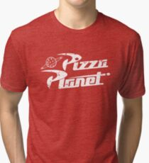 Pizza Planet (white) Tri-blend T-Shirt