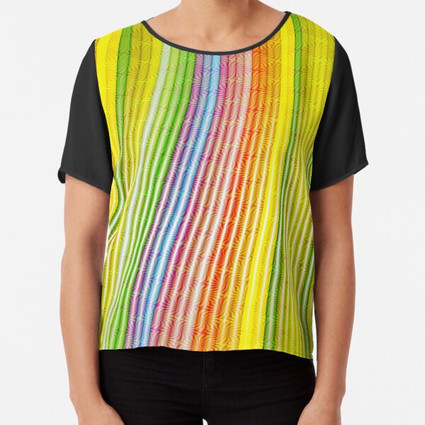 Striations Of Color Chiffon Top