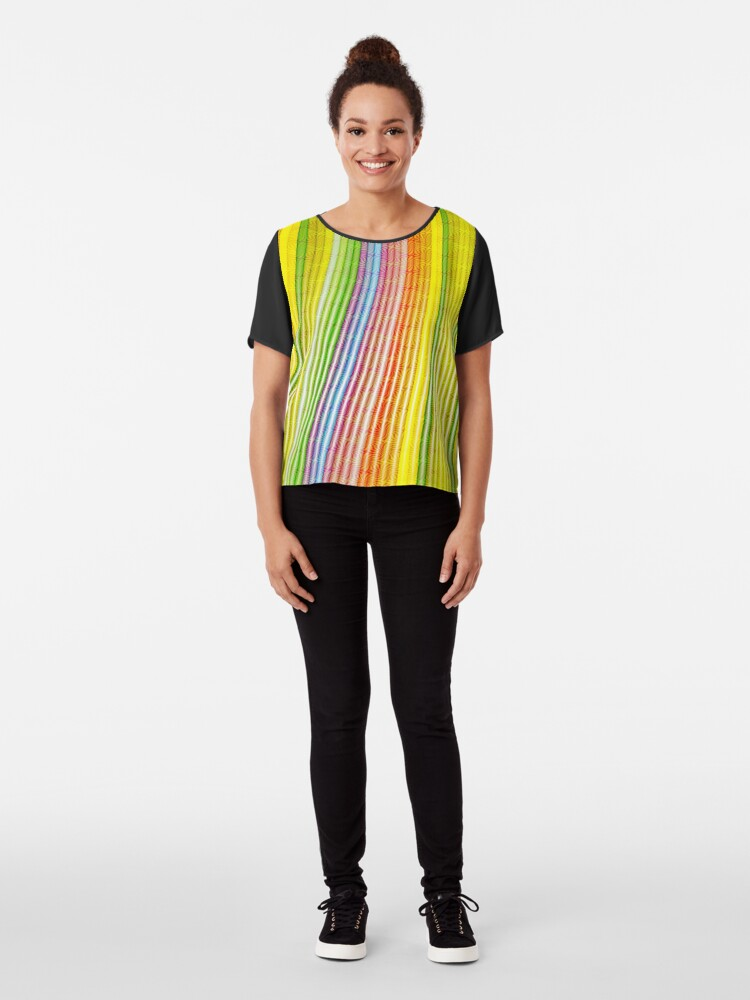 Alternate view of Striations Of Color Chiffon Top