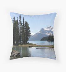Spirit Island, Jasper NP, Alberta, Canada Throw Pillow