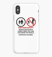 For Your Safety - No Dancing Warning (Stacked) iPhone Case