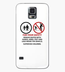 For Your Safety - No Dancing Warning (Stacked) Case/Skin for Samsung Galaxy