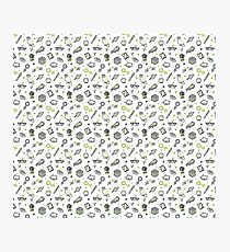 Random Doodle Pattern (Green)  Photographic Print