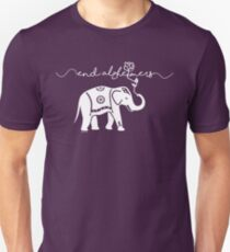 End Alzheimers with elephant  T-Shirt