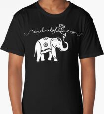 End Alzheimers with elephant  Long T-Shirt