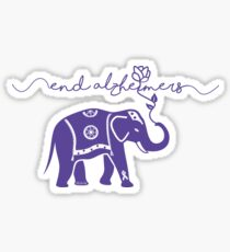 End Alzheimers with elephant  Sticker