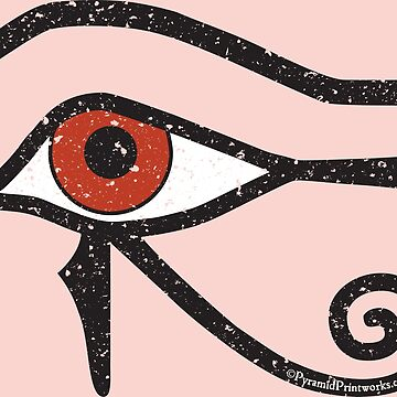 Eye of Horus Ancient Egyptian Symbol of Protection Special Edition on Pink by PyramidPrintWrx