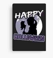 Happy Halloween! Moon Silhouette [BTVS] Canvas Print
