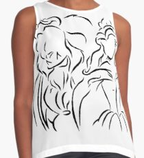 Beauty and The Beast (Outline Art) Contrast Tank