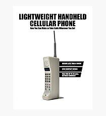 Lámina fotográfica Teléfono móvil retro de la serie de 1980