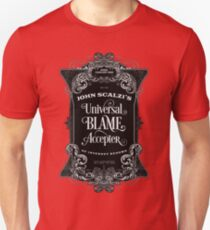 John Scalzi's Universal Blame Accepter T-Shirt T-Shirt