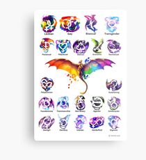 Pride Dragons - Version Two Metal Print