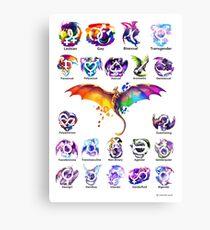 Pride Dragons - Version Two Canvas Print