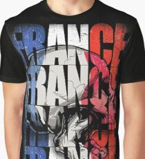 France Skull Flag Graphic T-Shirt