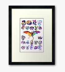 Pride Dragons - Version One Framed Print