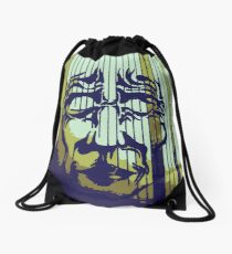 Striped Mask Drawstring Bag