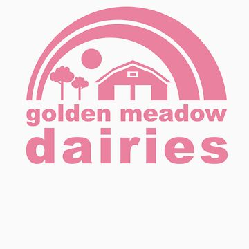 golden meadow dairies (pink) by elilygreen