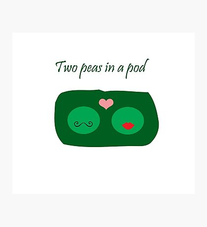 Two Peas in a Pod Photographic Print