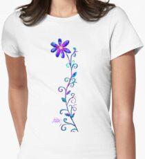Tall Purple Flower Women's Fitted T-Shirt