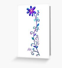 Tall Purple Flower Greeting Card