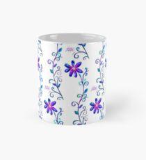 Tall Purple Flower Mug