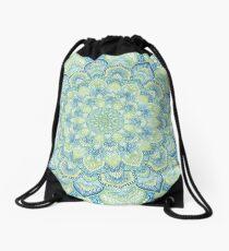 Blue & Green Mandala Drawstring Bag