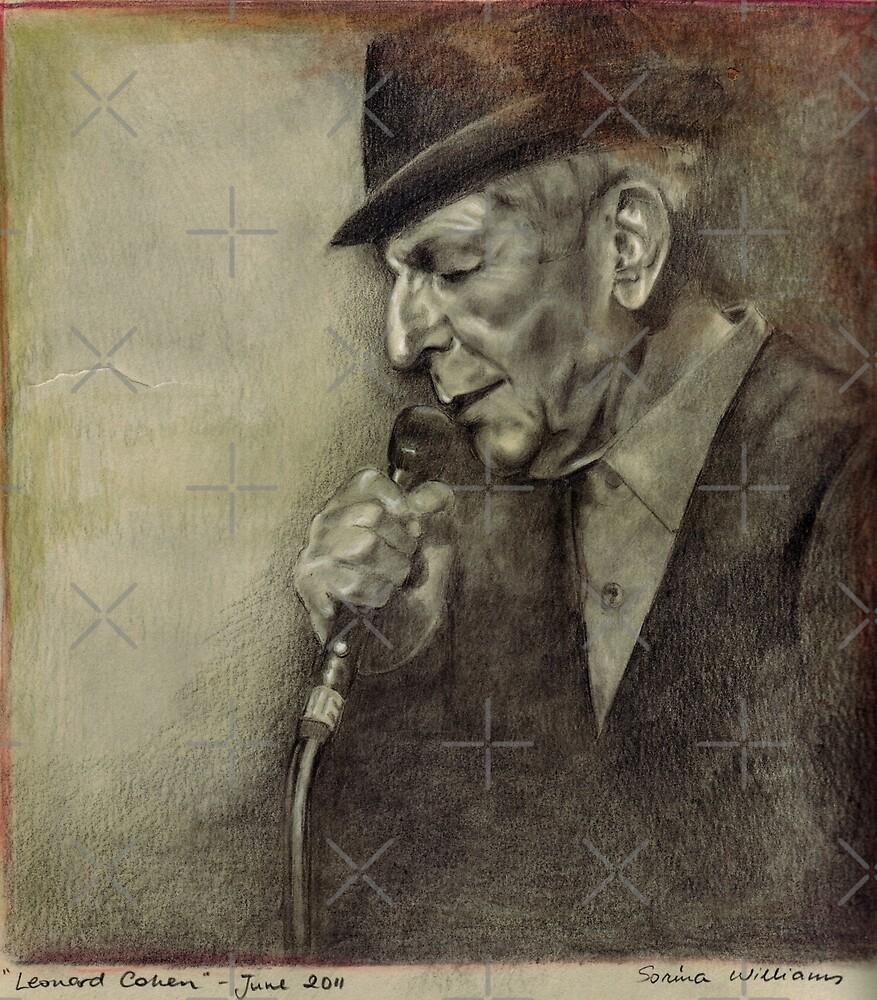 Leonard Cohen by Sorina Williams