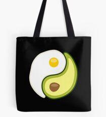 Avocado Egg Yin Yang Tote Bag