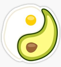 Avocado Egg Yin Yang Sticker