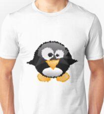 Cute Penguin In Triangles Geometric T-Shirt