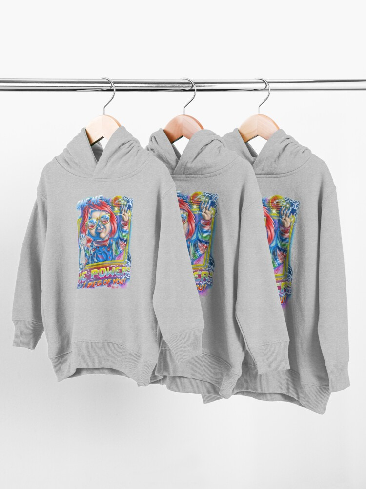 Alternate view of Give Me the Power Toddler Pullover Hoodie