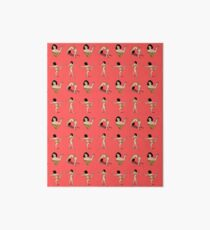 Broad City Art Model Pizza Censorship Pink (pattern) Art Board