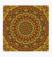 Autumn Leaves in the Fitzroy Gardens Mandala Photographic Print