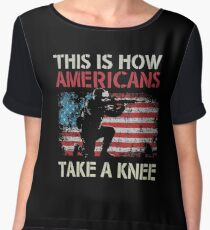 this is how american Take a Knee Women's Chiffon Top