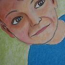The face of a young boy. by Wolska