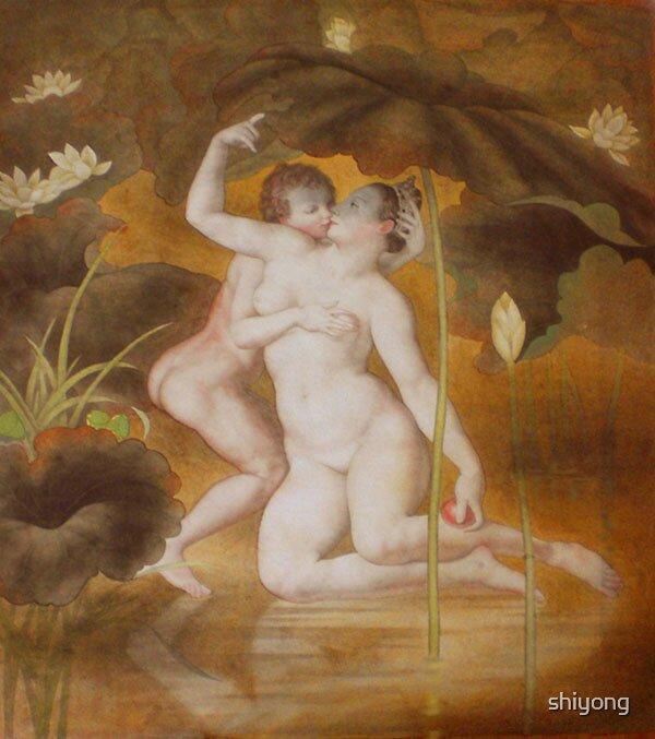 Venus and cupid by shiyong