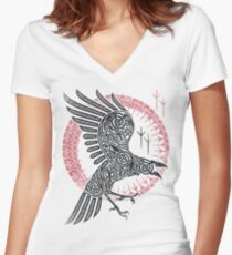 RAGNAR'S RAVEN Women's Fitted V-Neck T-Shirt