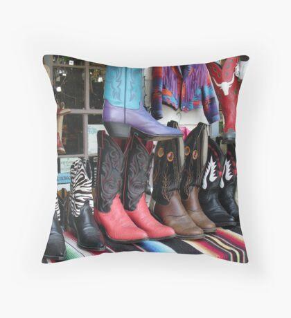 Boots Throw Pillow