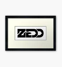 zedd black text Framed Print