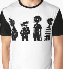 Gorillaz black and white Graphic T-Shirt