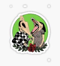 Beetlejuice Inspired Monster Couple Halloween 80's Goth Tim Burton Film Theme Creepy Cool Shirt Sticker Sticker