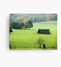 Fall Barn Canvas Print