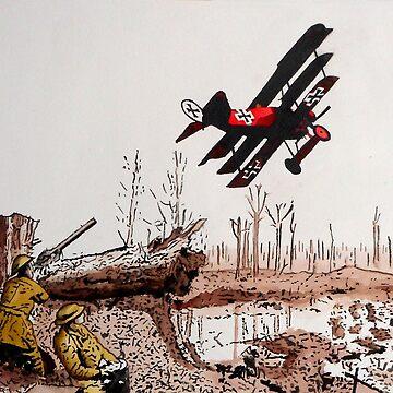 WW1 Red Baron by BernardWeekes