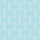 Geometric Pattern - Baby Blue by lisabdesign