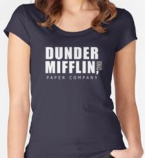 The Office Dunder Mifflin Women's Fitted Scoop T-Shirt